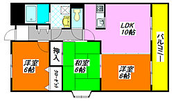 グランドゥール・シェソワ 307号室[3階]の間取り