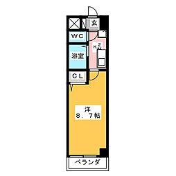 エクセル長池[2階]の間取り