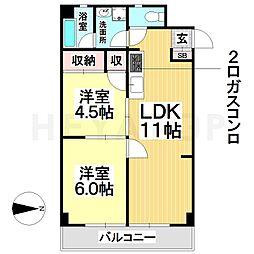 愛知県名古屋市南区城下町1丁目の賃貸マンションの間取り