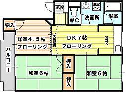 ビスタ相川[303号室]の間取り