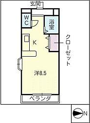 サイプレス[2階]の間取り