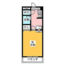 グリーンベル桜島[1階]の間取り