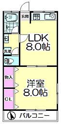 東京都足立区東伊興4丁目の賃貸マンションの間取り