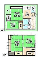 [一戸建] 兵庫県神戸市垂水区五色山5丁目 の賃貸【/】の間取り