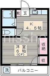 東京都中野区鷺宮3丁目の賃貸アパートの間取り