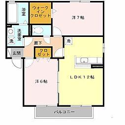 リッツハウスII番館[2階]の間取り