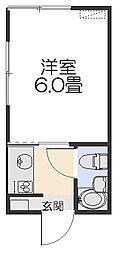 コーポヤマト[201号室]の間取り