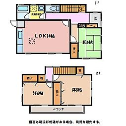[一戸建] 長野県安曇野市穂高有明 の賃貸【/】の間取り