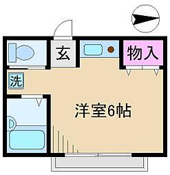東京都北区栄町の賃貸アパートの間取り