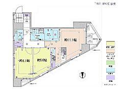 2LDK・専有面積54.9平米・バルコニー面積5.08平米