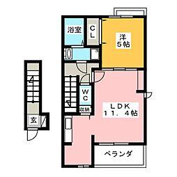 M・ウェイブII[2階]の間取り