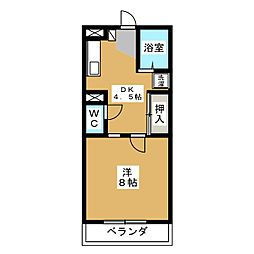 徳川ビル[5階]の間取り