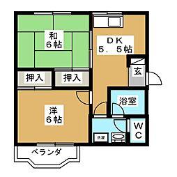 ソワサント木内[1階]の間取り