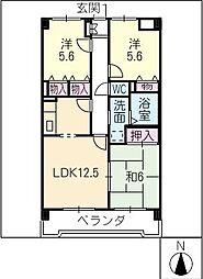 グランドマンション[1階]の間取り