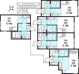 ハーミットクラブハウス菊名IIIA号棟(仮称)[2階]の間取り