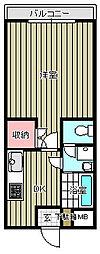 東水南上宿マンション[401号室]の間取り