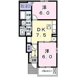 エアリーメゾン高塚壱番館[1階]の間取り