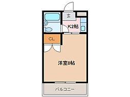 アベニュー小田[3階]の間取り
