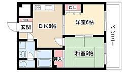アルファパル喜多山[203号室]の間取り