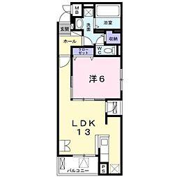 京急本線 上大岡駅 バス15分 公務員住宅入口下車 徒歩3分の賃貸マンション 1階1LDKの間取り