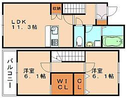 R´sResidennce潤野[2階]の間取り