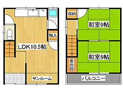 [一戸建] 兵庫県神戸市垂水区星が丘3丁目 の賃貸【/】の間取り