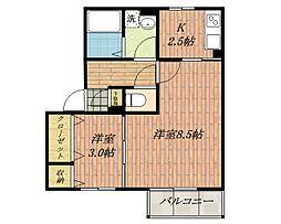 リンデンバウムC棟[2階]の間取り