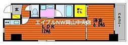 富田町二丁目マンション(仮) 6階1LDKの間取り