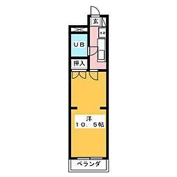 コーポカジムラ[2階]の間取り