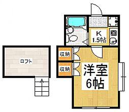 パールハイツ[1階]の間取り