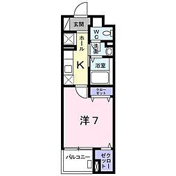 北野町マンション[0102号室]の間取り