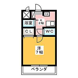 WING・カチガワ[1階]の間取り