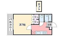 福岡県糸島市浦志1丁目の賃貸アパートの間取り