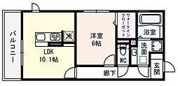 ロイヤル西野山[306号室号室]の間取り