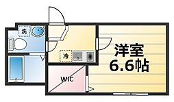 神奈川県厚木市旭町3丁目の賃貸アパートの間取り