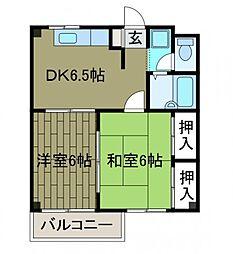 コスモス町田A棟[3階]の間取り