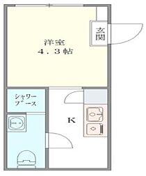DEN OYAMA 〜デンオオヤマ〜[2階]の間取り