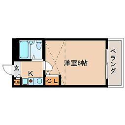 奈良県大和郡山市材木町の賃貸マンションの間取り