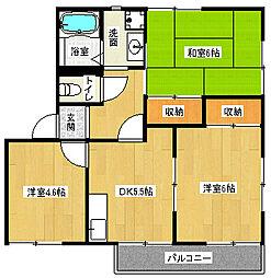 京都府京都市南区西九条豊田町の賃貸アパートの間取り