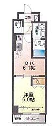 フローラ小石川 1階1DKの間取り