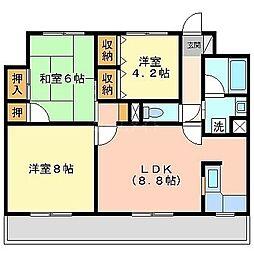 ルブラン薬院[5階]の間取り