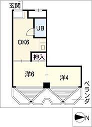 サニーハイツ[6階]の間取り