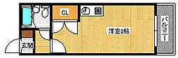 大阪府堺市西区鳳中町1丁の賃貸マンションの間取り