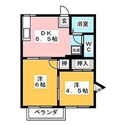 フォーブル浅井A[2階]の間取り