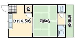 高野アパート[2号室]の間取り
