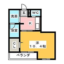 静岡県静岡市駿河区大坪町の賃貸マンションの間取り