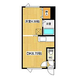 吉野ハイツ2[206号室]の間取り
