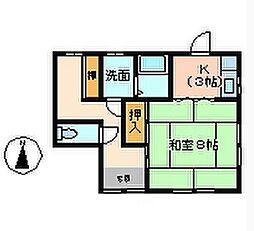[一戸建] 徳島県徳島市南矢三町2丁目 の賃貸【/】の間取り