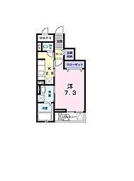 JR山陽本線 西明石駅 徒歩11分の賃貸マンション 3階1Kの間取り
