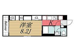 JR京葉線 稲毛海岸駅 徒歩17分の賃貸マンション 1階1Kの間取り